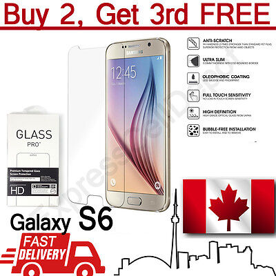 $ CDN3.79 • Buy Premium Tempered Glass Screen Protector For Samsung Galaxy S6