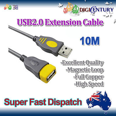 AU21.99 • Buy *JH* 10M New USB 2.0 A Male To A Female Extension Cable Cord Full Copper Grey