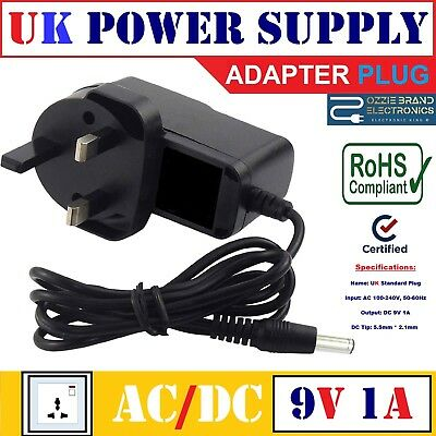 £8.49 • Buy 9v Ac/dc Power Supply Adapter Compatible For Kane 425/455/250 Flue Gas Analyser
