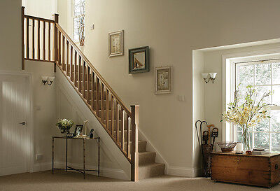 £627 • Buy Oak Stop Chamfered Stair & Landing Balustrade Kit - Select Length And Type