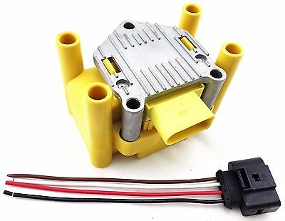 $70.20 • Buy 1999 2000 2001 Ignition Coil Volkswagen Vw 2.0 Golf Beetle Jetta & Wire Harness