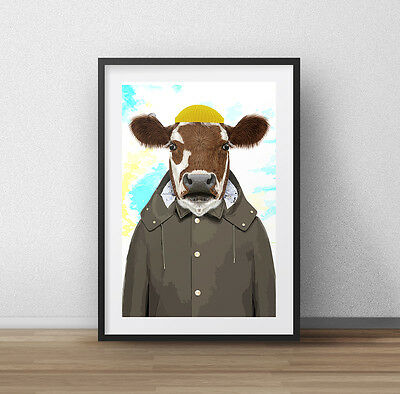 £11.99 • Buy Cow - COLOURFUL ANIMALS COLLECTION CANVAS WALL ART PRINT PICTURE