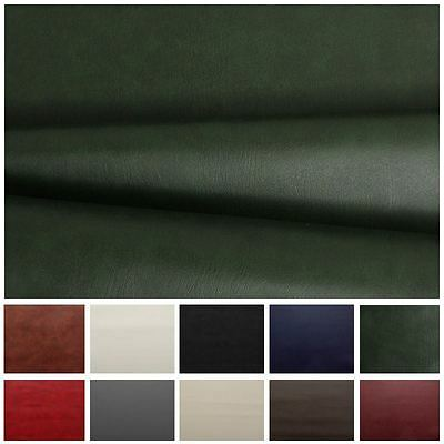 Heavy Feel Faux Leather Leatherette Vinyl Pvc Upholstery Material Fabric • 0.99£