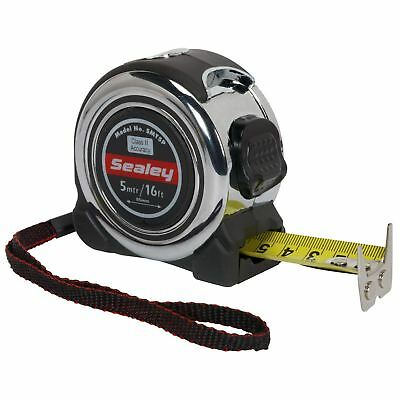 Sealey 5m Or 8m Professional Tape Measure Chrome Body Metric Imperial Measuring • 10.25£