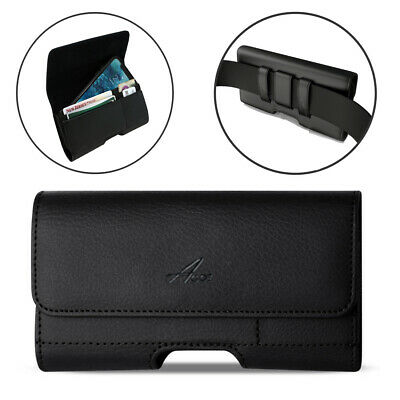 AU15.45 • Buy Agoz Leather Sideways Belt Clip Pouch With Credit Card Slot For Samsung Phones