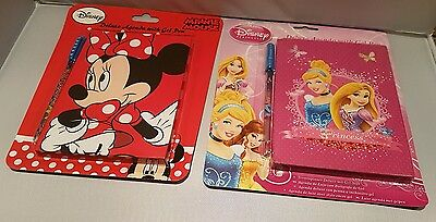 Disney Deluxe Agenda Minnie Mouse & Princess With Gel Pen *party Bags Fillers* • 2.49£