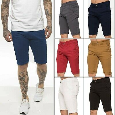 £15.99 • Buy Enzo Mens Chino Shorts Skinny Fit Stretch Short Casual Cotton Summer Half Pants