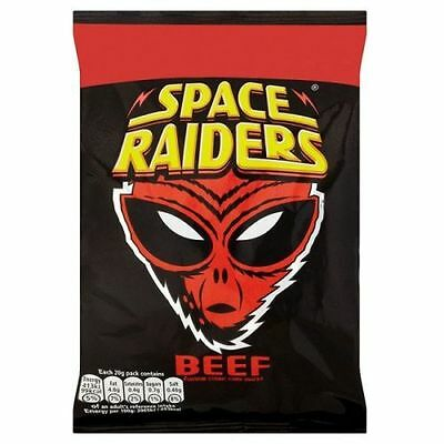 Space Raiders 25g Box Of 36 Packs BEEF FLAVOR  £10.89 B/before 1st May 2021 • 10.89£