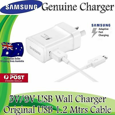 AU14.49 • Buy NEW GENUINE SAMSUNG 9V ADAPTIVE FAST AC Wall Charger For S7 S6 Edge + Note 4 5