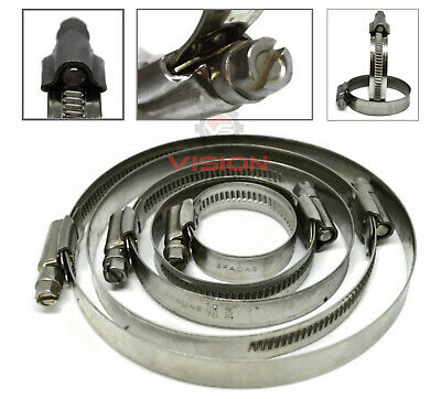 Stainless Steel Hose Clips Pipe Clamps - Jubilee Type - Multi Size 8mm - 110mm • 2.55£