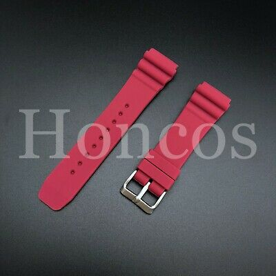 $ CDN13.39 • Buy 22 MM Red Silicone Rubber Watch Band Strap Fits Seiko Diver 2021 Model SKX Water