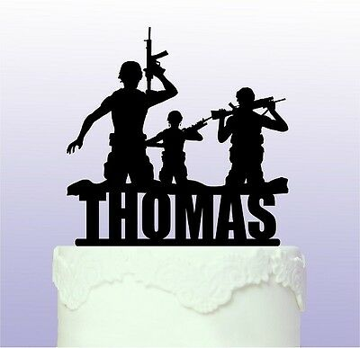 £9.50 • Buy Personalised Army Acrylic Cake Topper - Soldier Forces