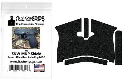 $11.50 • Buy Black Tractiongrips Grip Tape Overlay For S&W M&P Shield 9mm, .40 Caliber Grips