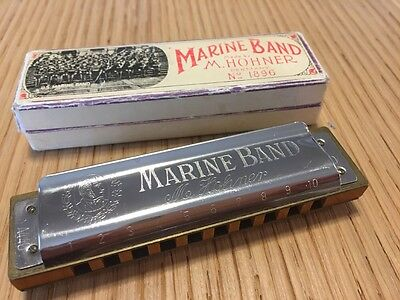 $45 • Buy Vintage M. Hohner Marine Band Harmonica Key Of D Made In Germany 1896 Model A440