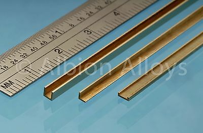 Albion Alloys Brass L Angle Or U Channel Or C Channel 1 Piece 305mm Length  • 6.30£
