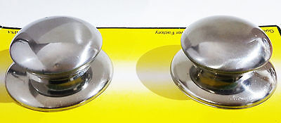 New 2Pcs Silver Pot/Pan All Metal Lid Cover Handle Replacement Knobs Cookware UK • 2.69£