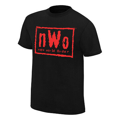 £29.99 • Buy Official WWE - NWO New World Order  Wolfpac   Black & Red Retro T-Shirt