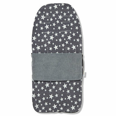 Snuggle Summer Footmuff Compatible With Joie Stroller Buggy Pram - Grey Star • 18.99£