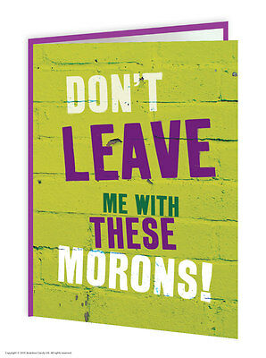 Leaving Work Job Bon Voyage Goodbye Good Luck Greeting Card Funny Comedy Humour • 2.75£