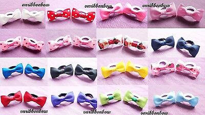 £2.89 • Buy PAIR Of Girls Baby Kids Children Hair Accessories Bows Bobbles Hairbands Ponios