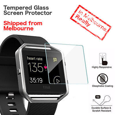 AU3.99 • Buy Tempered Glass Screen Protector For FitBit Blaze / Cover / Film - Melbourne