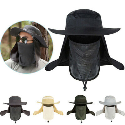 $6.93 • Buy Men Women Outdoor Sport Fishing Hiking Hat UV Protection Face Neck Flap Sun Cap