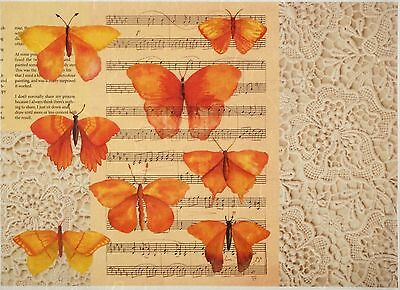 £1.89 • Buy Rice Paper For Decoupage Decopatch Scrapbook Craft Sheet Vintage Butterfly