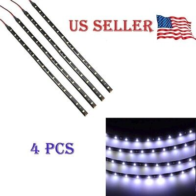 $6.65 • Buy White 4PCS 12V 12  15SMD Flexible LED Strip Light Waterproof For Car Truck Boat