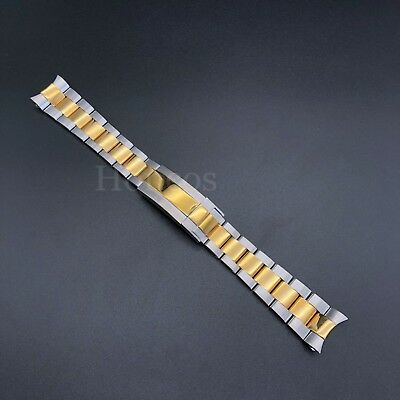 $ CDN60.44 • Buy 20MM Oyster Watch Band Bracelet Shiny Brust Two Tones Fits For Rolex Submariner