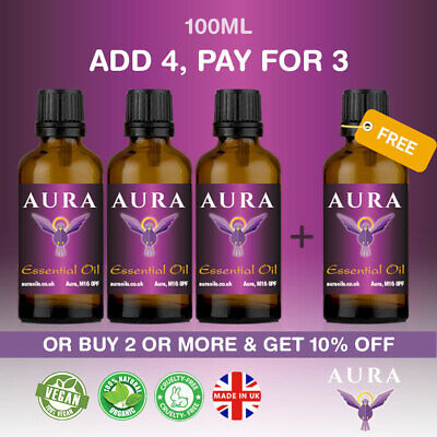 Essential Oils Pure Aromatherapy Therapeutic Grade Free Shipping 100ml Natural • 10.99£