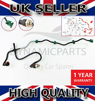 Citroen Relay Peugeot Boxer 2.2 Hdi Fuel Injector Return Pipe Leak Off + Clips • 24.35£