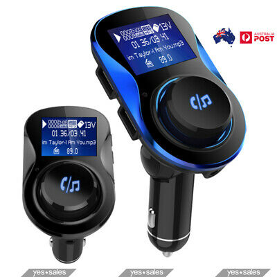 Bluetooth FM Transmitter Car Kit Mp3 Player With USB Charger For IPhone Huawei • 20.29£