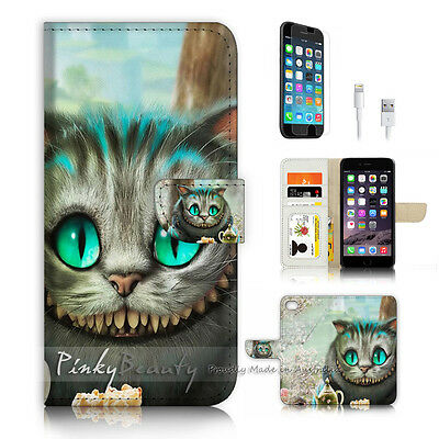 AU12.99 • Buy ( For IPhone 7 Plus ) Wallet Case Cover P3979 Cheshire Cat