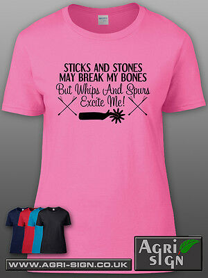 £12.49 • Buy Funny Horse Equine Pony Dressage Show Jumping T Shirt Clothing Gift -Sticks Ston