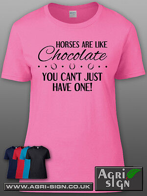 £12.49 • Buy Funny Horse Equine Pony Dressage Show Jumping T Shirt Clothing Gift - Chocolate