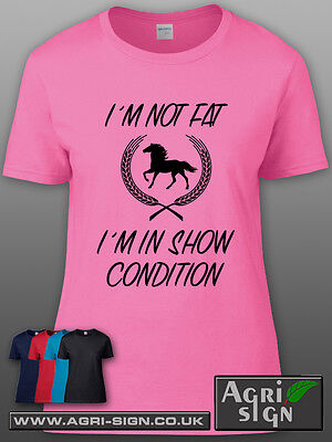 £12.49 • Buy Funny Horse Equine Pony Dressage Show Jumping T Shirt Clothing Gift - Im Not Fat
