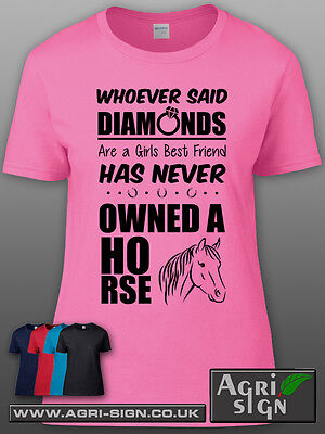 £12.49 • Buy Funny Horse Equine Pony Dressage Show Jumping T Shirt Clothing Gift - Whoever Sa