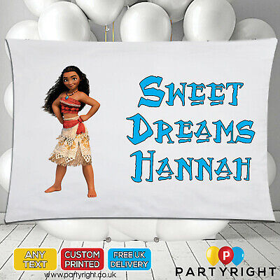 Personalised Moana Kids Pillowcase Pillow Case• Any Name • Great Gift • 8.99£