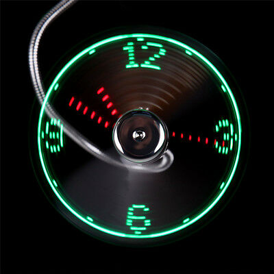 AU8.89 • Buy LED Clock Fan Mini USB Powered Cooling Flashing Real Time Display Function K9