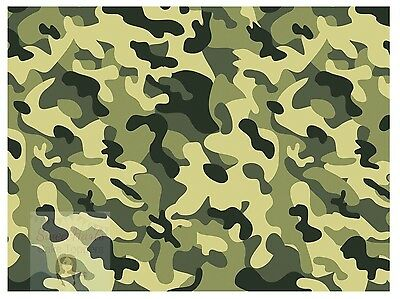 £5.99 • Buy Army Camouflage Cake Topper Edible Icing Cake Decoration Green Military Camo