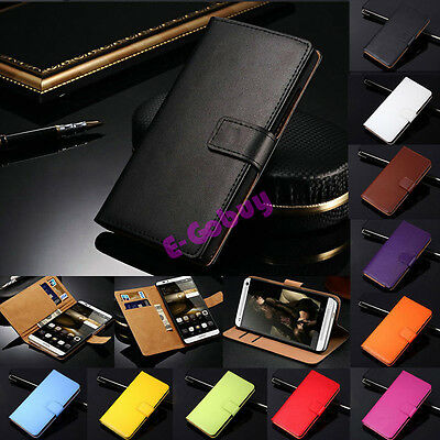 AU9.82 • Buy Genuine Leather Wallet Card Holder Flip Stand Case Cover For Huawei Series