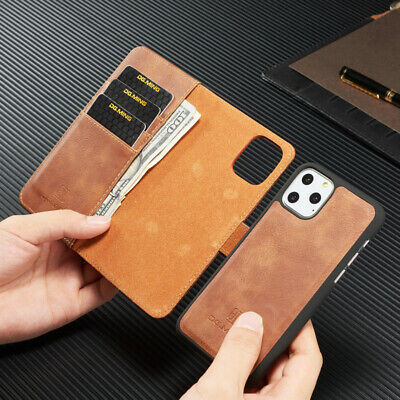 AU16.99 • Buy IPhone 11 Pro Max 8 7 6 Plus Luxury Magnetic Leather Removable Wallet Case Cover