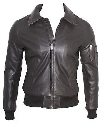£129.95 • Buy Richmond Mens Gents Brown Classic Retro Bomber US Air Force Pilot Leather Jacket
