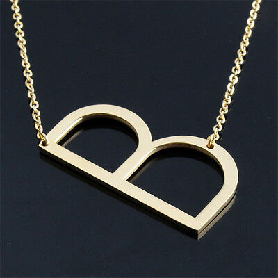 AU4.43 • Buy New Fashion Jewelry For Women Big 26 Letter Necklaces Pendants Stainless Steel