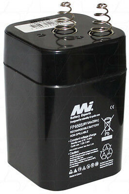 AU29.99 • Buy FP650S Dual Purpose 6V 5.0Ah VRLA Lantern Battery With Spring Terminals