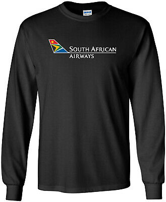 £13.03 • Buy South African Airways Vintage Logo South Africa Airline Long-Sleeve T-Shirt