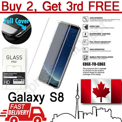 $ CDN6.99 • Buy Premium 3D Full Cover Tempered Glass Screen Protector For Samsung Galaxy S8