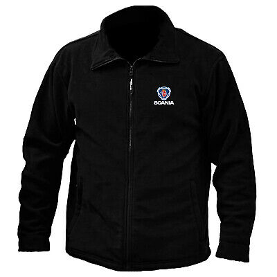 £25.99 • Buy Scania Logo Embroidered Anti Pill Full Zip Fleece Jacket Workwear Sport Outdoor