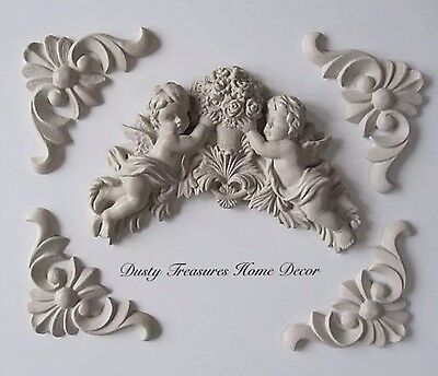 AU45 • Buy Shabby Chic Cupid French Furniture Moulding Furniture Applique Carving Onlay