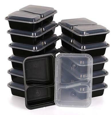 10pcs Microwave Safe Plastic Meal Prep Container Lunch Box Food Storage Takeaway • 8.99£